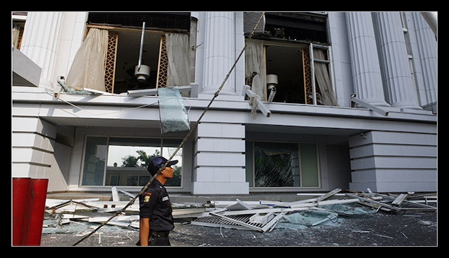 Indonesia Bombings Signal Militants' Resilience - By NORIMITSU ONISHI JULY 17, 2009JAKARTA, Indonesia — The nearly simultaneous suicide bomb attacks at two American hotels on Friday suggested that Islamic terrorist groups, though significantly weakened in Indonesia in recent years, still had the means to mount deadly assaults in one of the most heavily secured areas here in Indonesia's capital.Indonesian officials said it was too early to identify those behind the attacks at the hotels, the JW Marriott and the Ritz-Carlton, which killed eight people and wounded at least 50…READ MORE