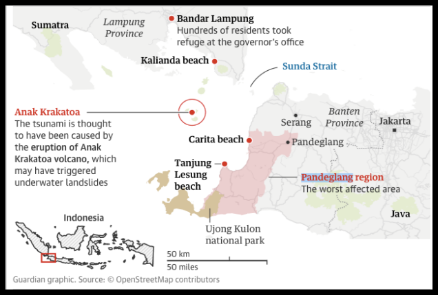 Sunda Strait tsunami death toll likely to rise, say Indonesian officials - Justin McCurry, Frances Perraudin and agenciesSun 23 Dec 2018 13.37 ESTThere were fears of further eruptions and warnings that the death toll could rise dramatically after the tsunami which struck tourist beaches and coastal areas around Indonesia's Sunda Strait.Officials said 222 people were confirmed dead and a further 843 injured after waves…READ MORE