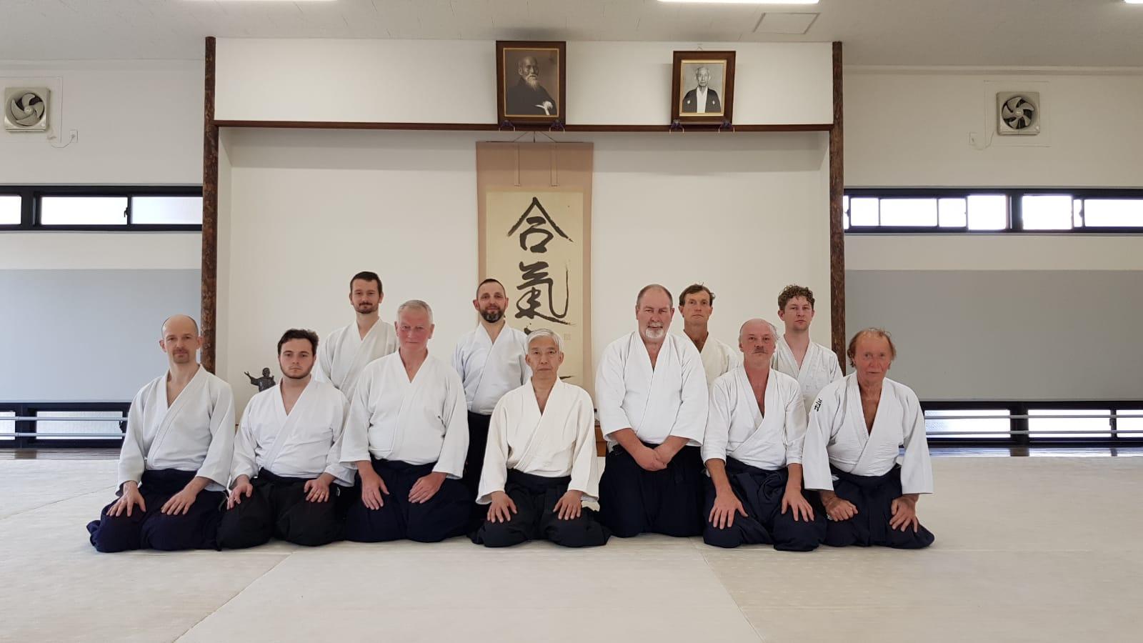 UKA members with the current Doshu, Moriteru Ueshiba.
