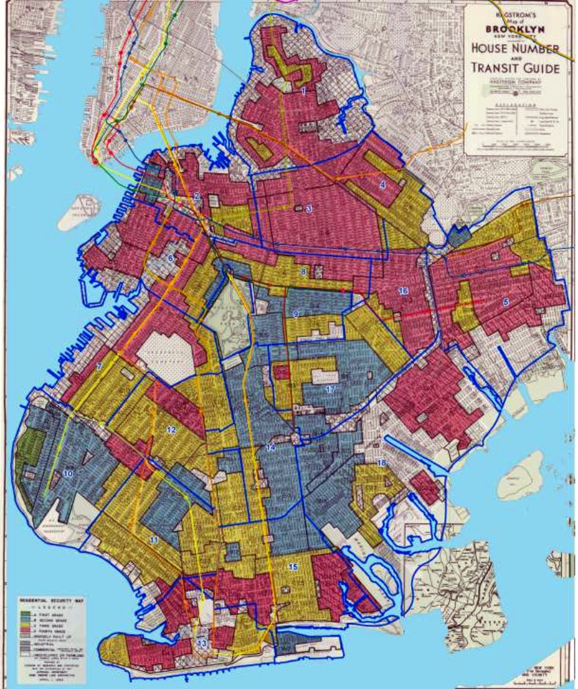 1938 Brooklyn Community Zoning Map via National Archives
