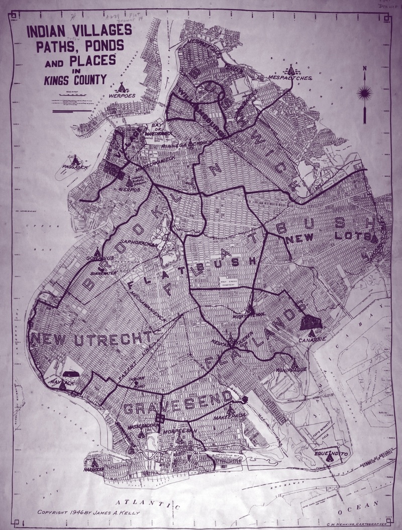 Indian Villages, Paths, Ponds and Places in Kings County , 1946,  Brooklyn Historical Society