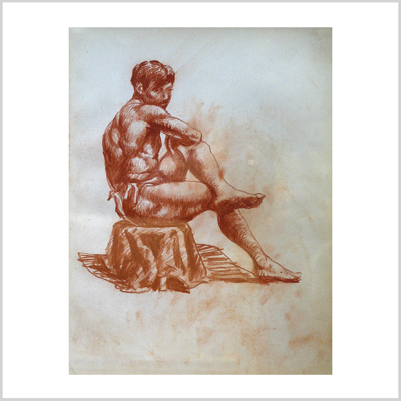 Sketchbook Drawing: Seated Man