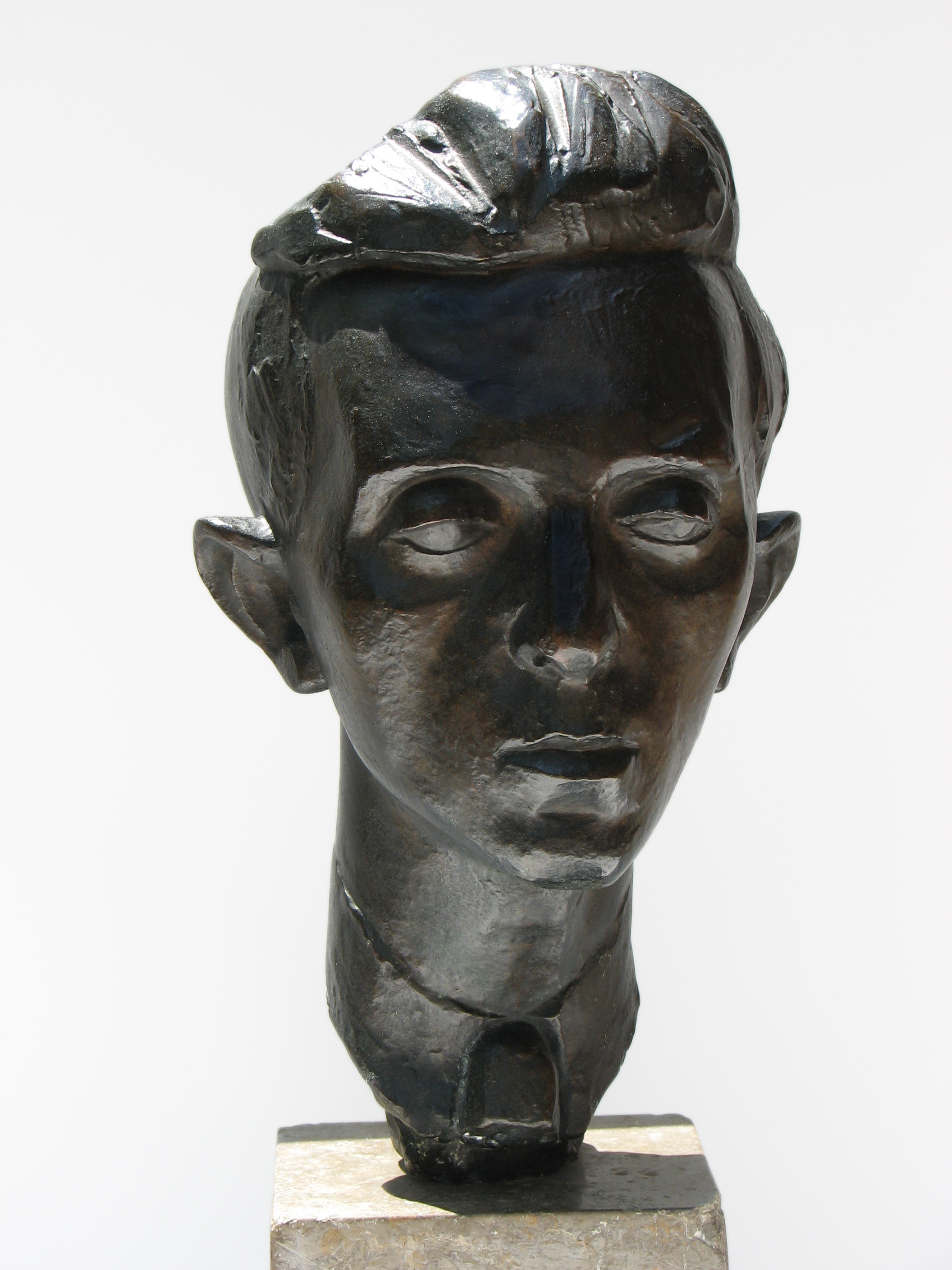 "Portrait Head of Raphael Soyer  1932, bronze 15 x 8 x 9 ½"" Nakian Family 30.006"