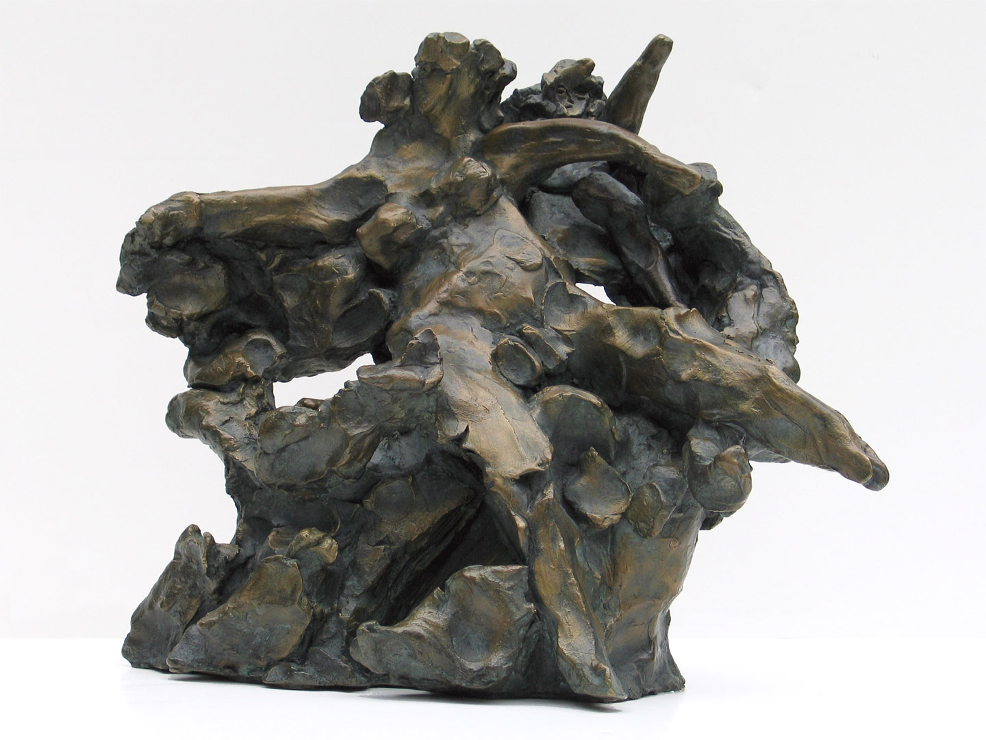 "Voyage to Crete  1962-65, bronze 12 ½ x 14 x 9"" Stamford Museum and Nature Center, Stamford, CT; private collections 30.085"