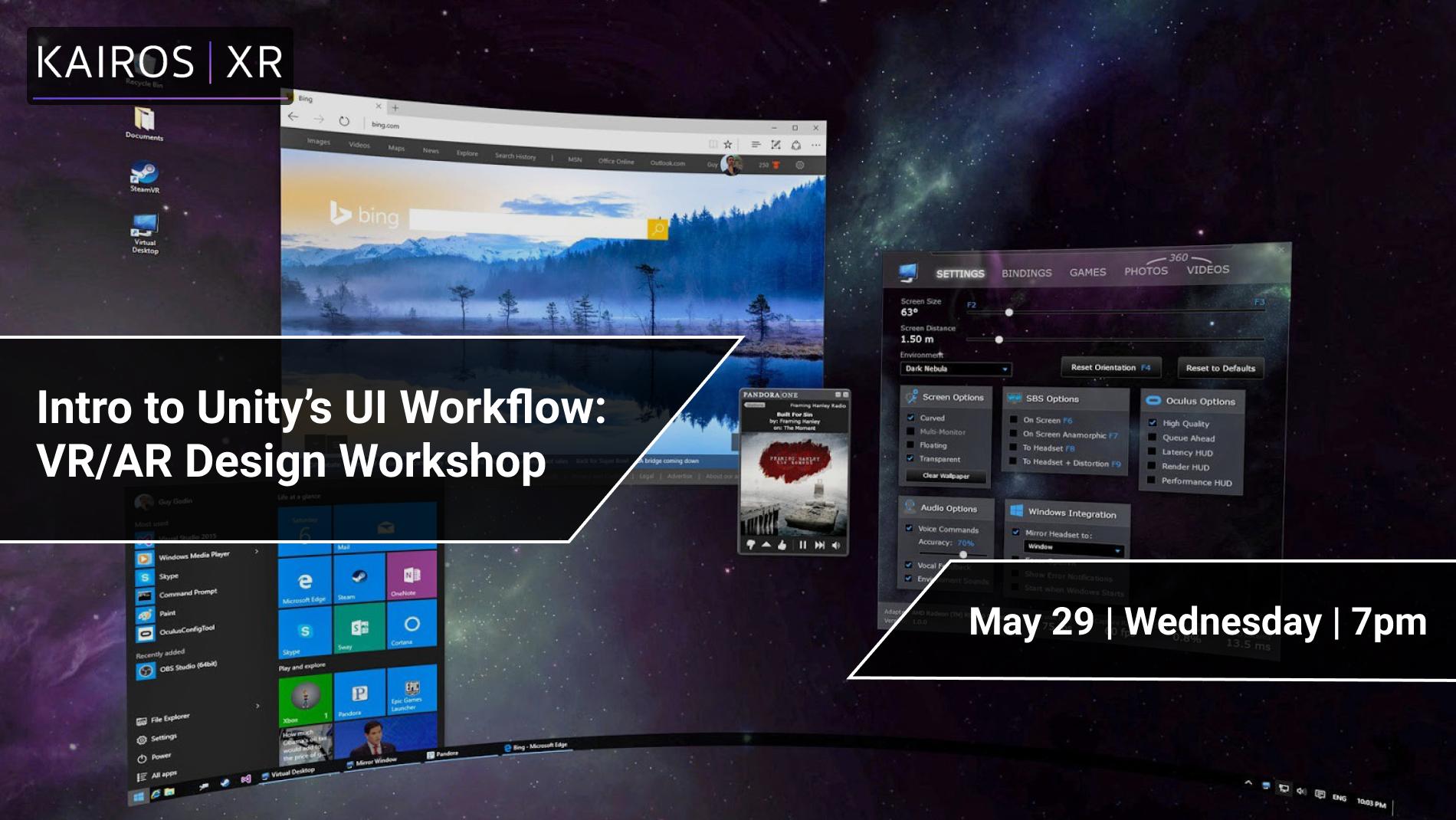 Online VR/AR Unity Workshop: Intro to User Interface Design