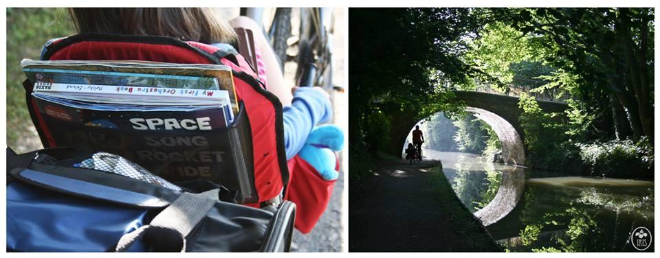 Weehoo® Bike Trailer and trailer bike Rails to Trails path.jpg