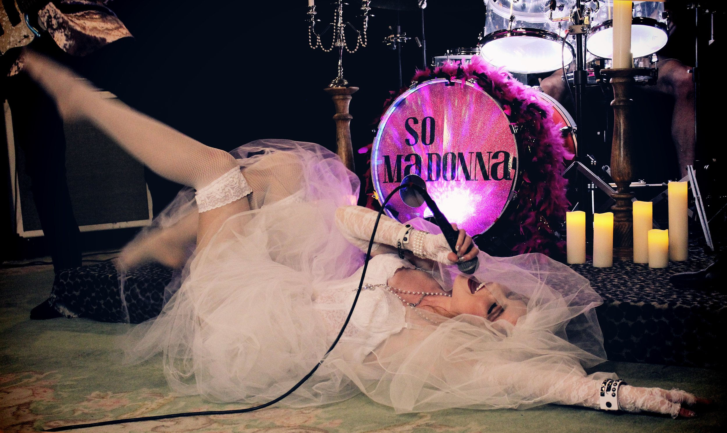 "Julianne performing ""Like A Virgin"""