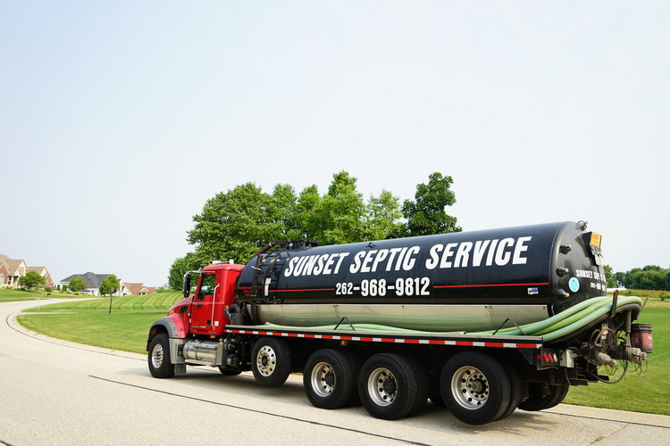 Sunset Septic Service Truck