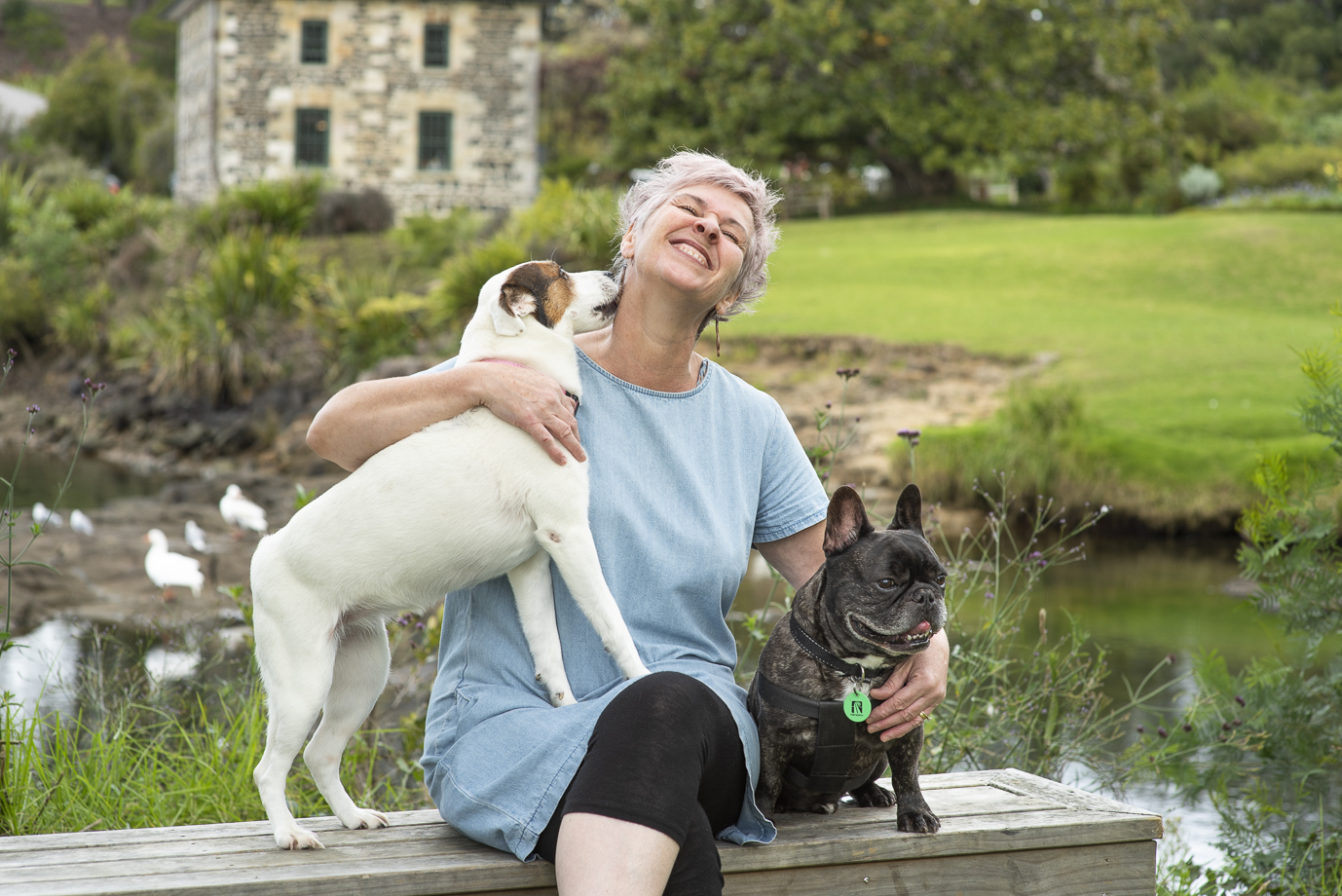 Janine & Pooches.  PHOTOGRAPHY: Images copyright Claire Gordon, Flash Gordon Photography at  Take Five Agency, Design & Marketing