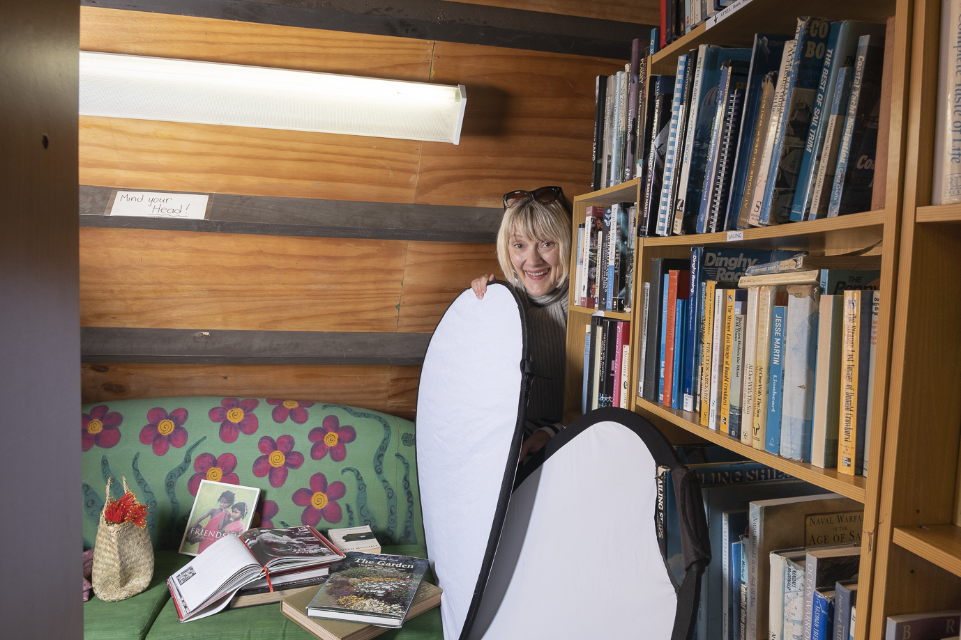 Trudie squeezed herself into some impossible places!