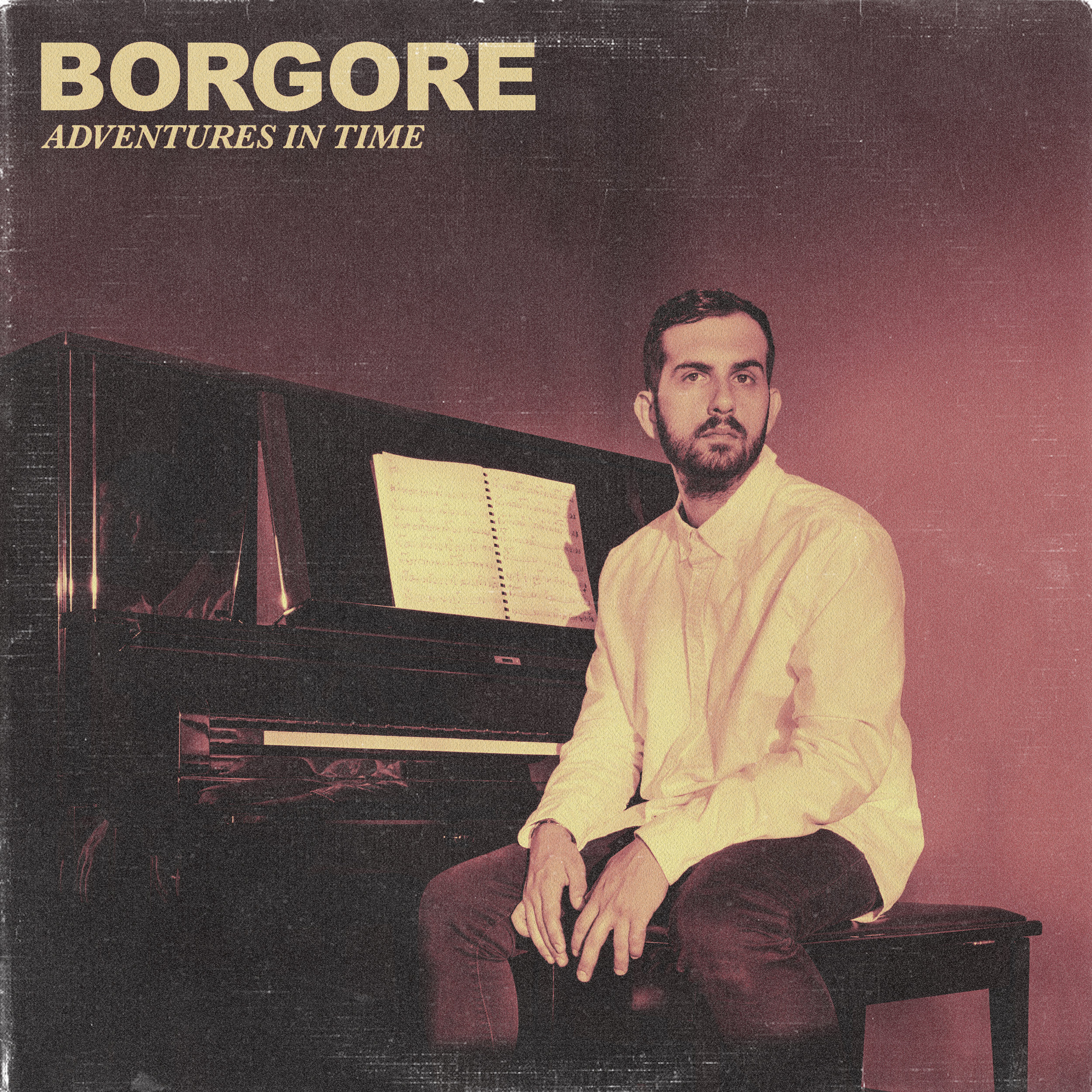 "Borgore's album art for the Jazz record ""Adventures in Time""."
