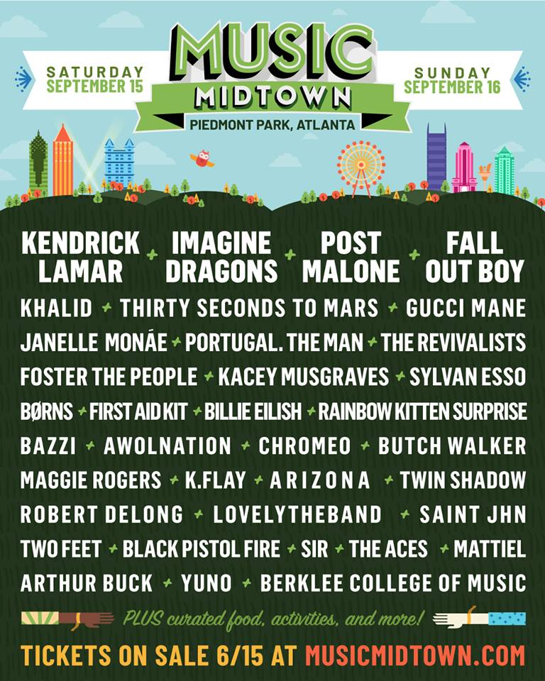 Music Midtown 2018 Line Up
