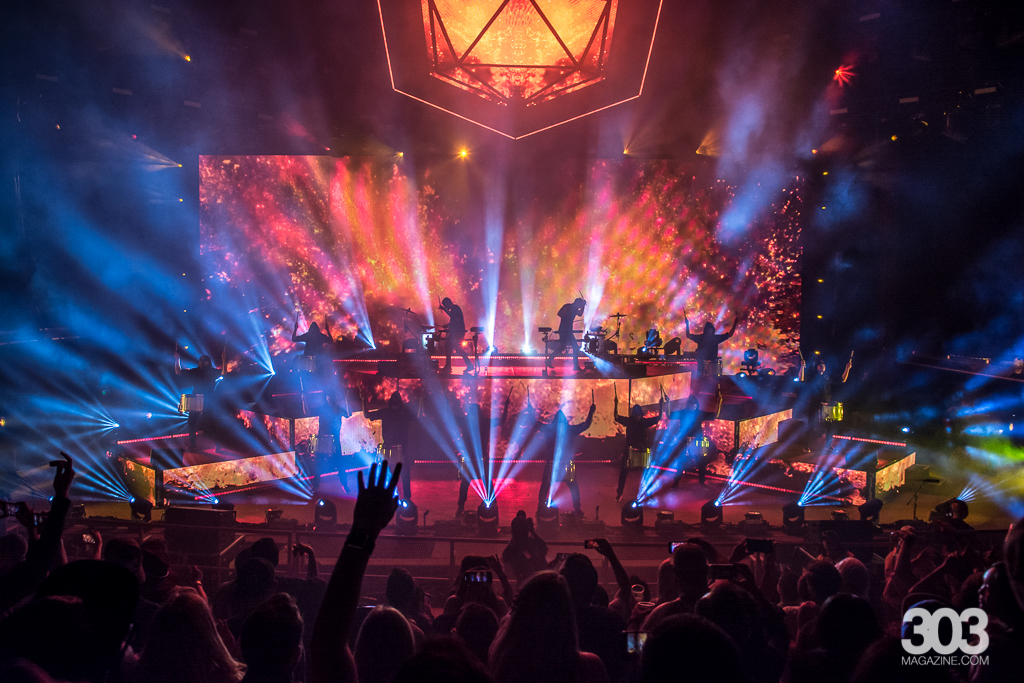 ODESZA performing at Red Rocks - Photo by 303 Magazine