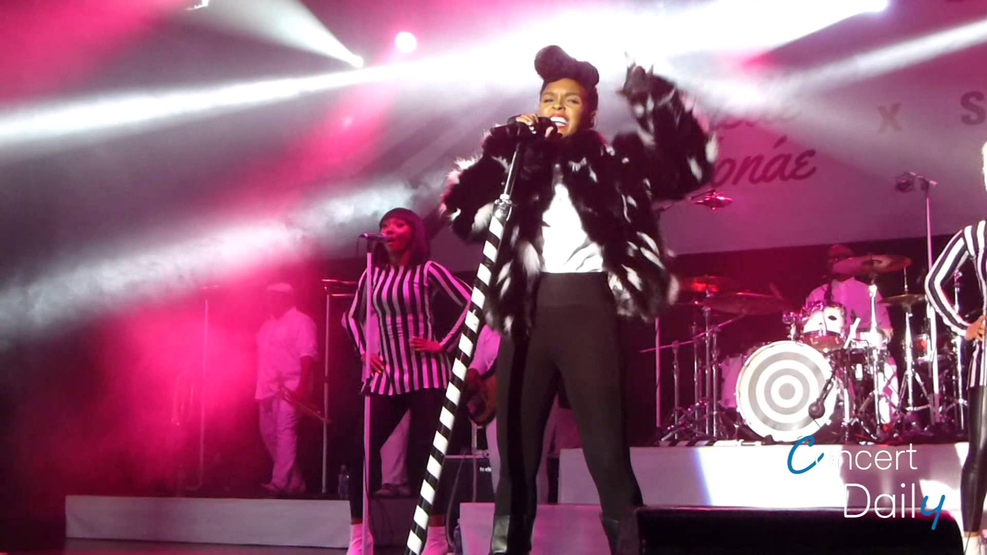 Janelle Monáe performing at the Best Buy Theater - Photo by Concert Daily