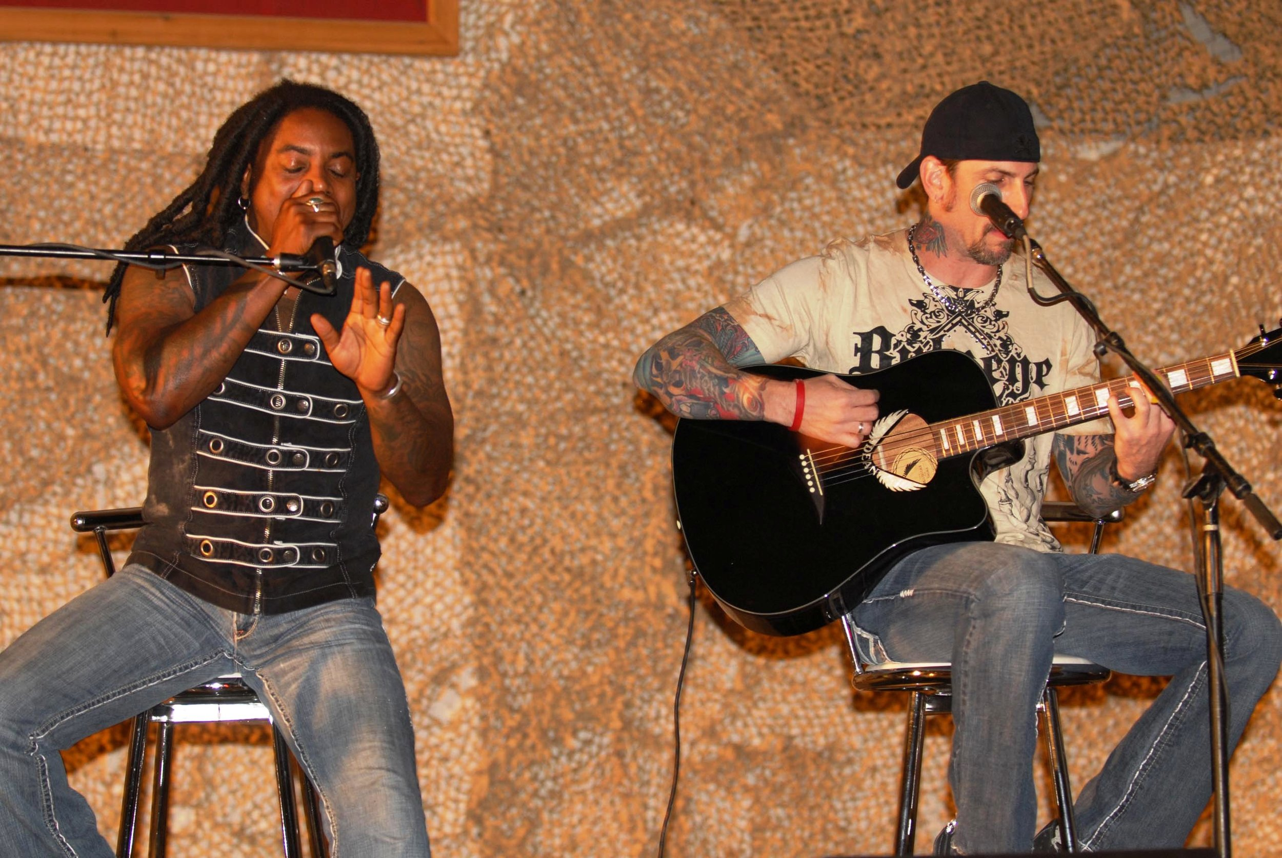 Sevendust performing at Bagram Air Base in Afghanistan, image from Department of Defense