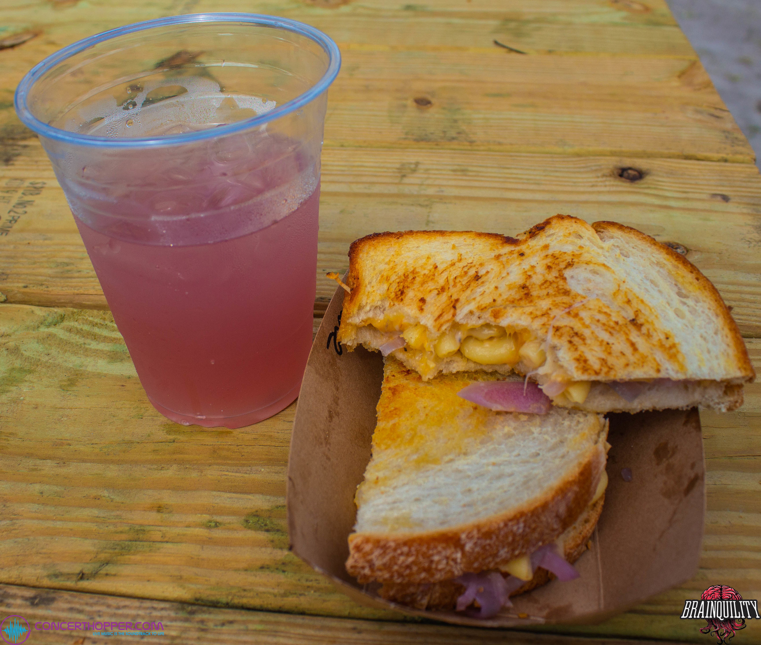 The Mac Daddy and Space Juice from The Grilled Cheese Incident.