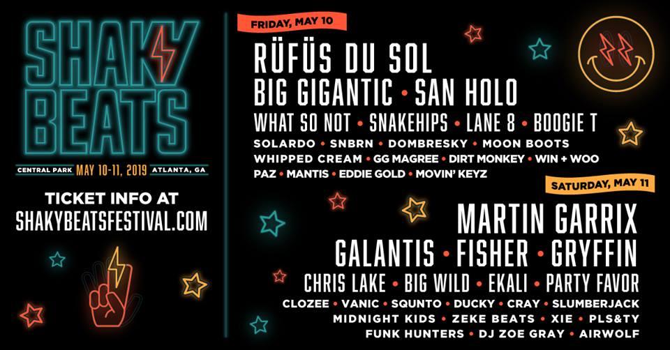 Shaky Beats 2019 Official Lineup Banner