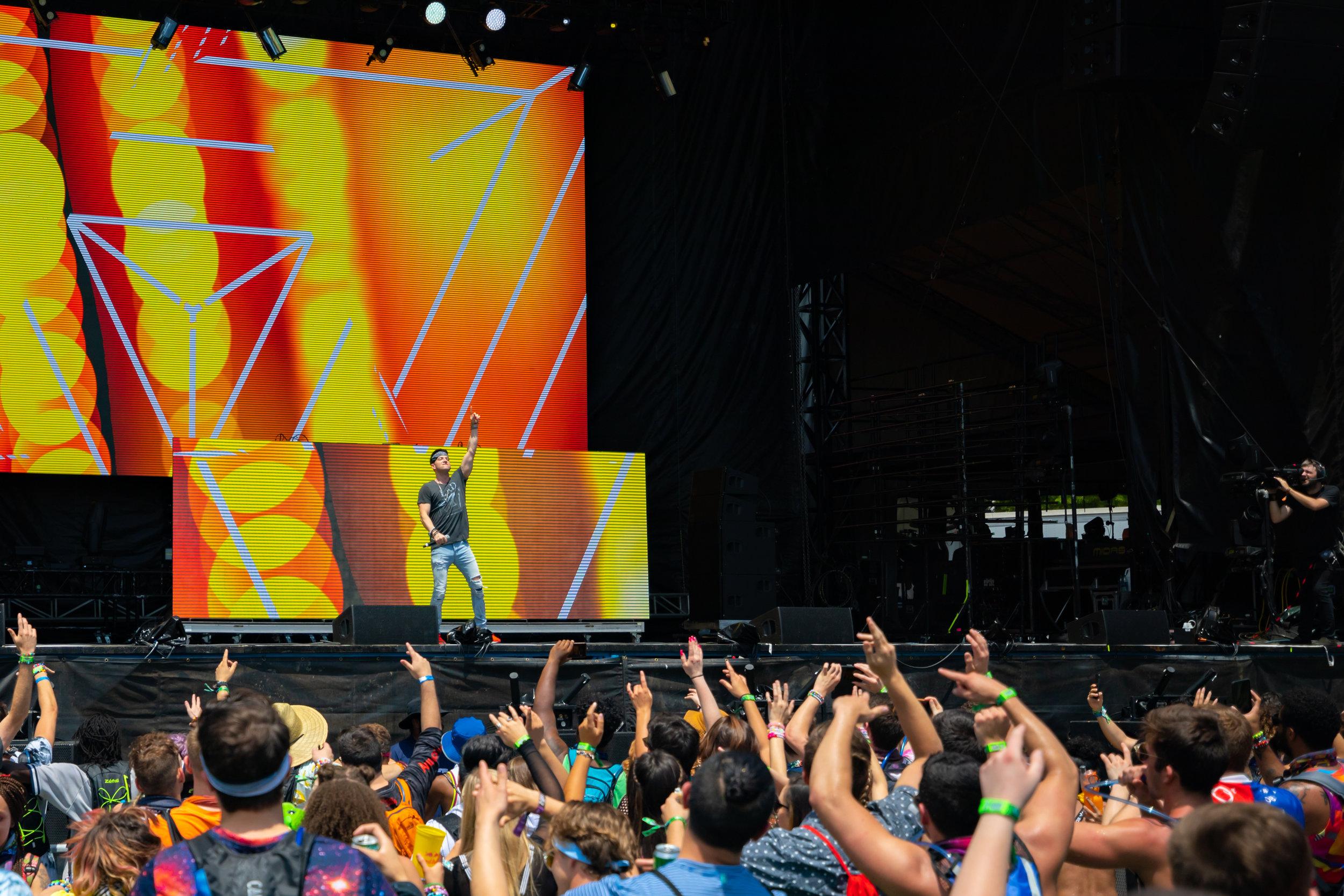 PAZ performing at Shaky Beats Festival 2019 in Atlanta, Georgia. Photo courtesy of Alive Coverage.
