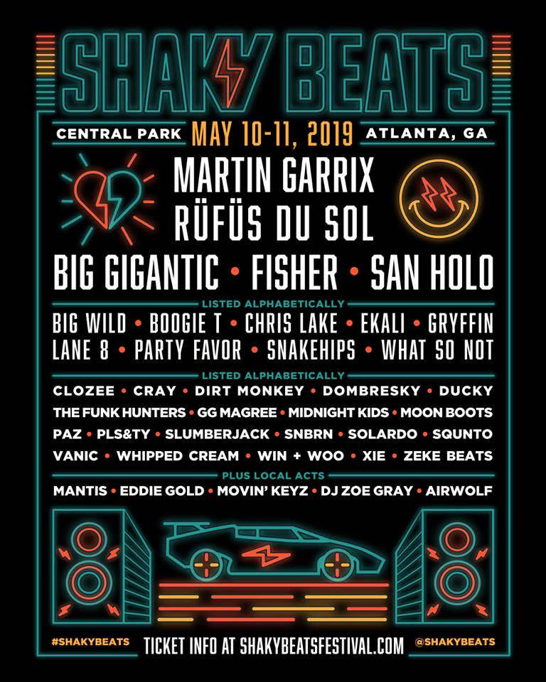 Shaky Beats Official Line Up Poster 2019