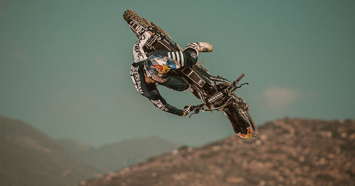 Tyler Bereman of the Red Bull Freestyle Motorcross Team