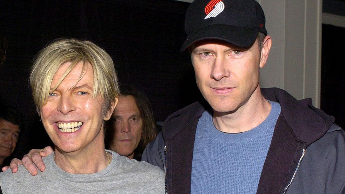 David Bowie and Page Hamilton