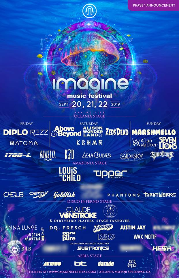 Imagine Music & Arts Festival Official Line Up Poster