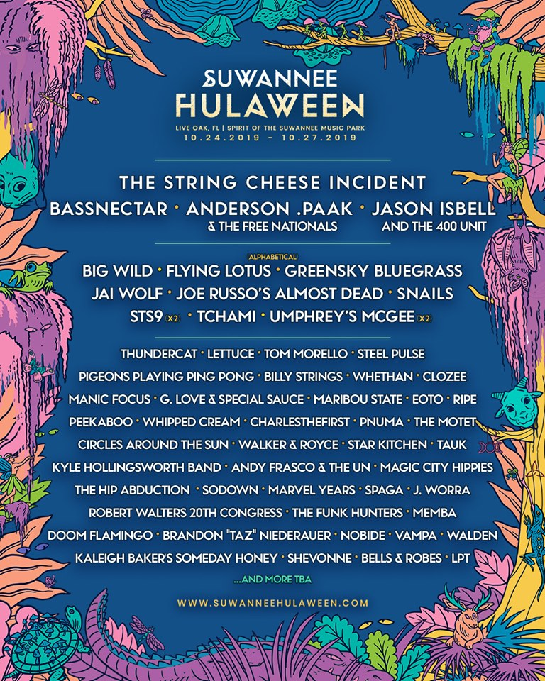 Hulaween 2019 - Official Lineup