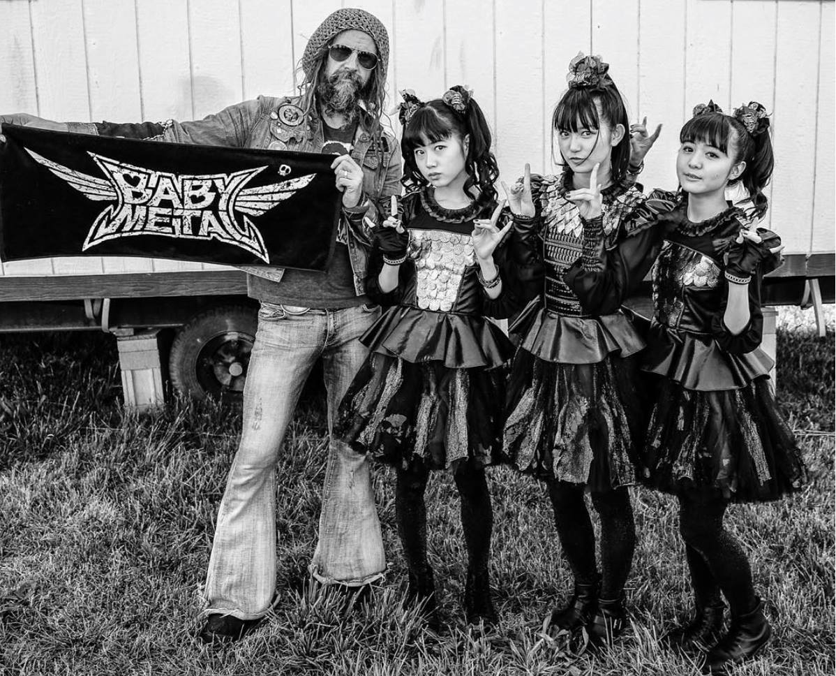Babymetal with Rob Zombie from Rob Zombie's Facebook ( https://www.facebook.com/robzombie )