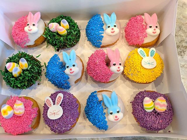 DONUT forget to put in your orders for Easter Donuts! 🐥• • • #njeats #bergencountyeats #eeeeeats #foodie #foodblogger #donuts #donutsofinstagram #easterdonuts #easter #hoppyeaster #nj #northjerseyeats #bergencounty #newjersey #cheatday #cheatmeal
