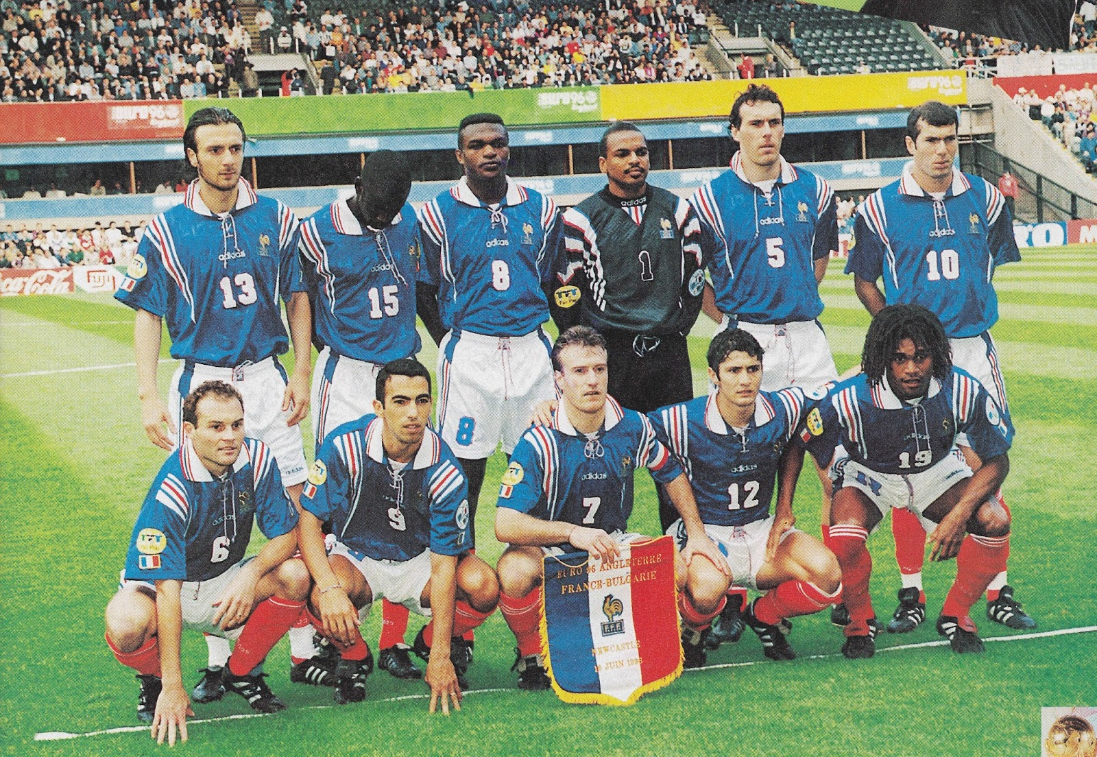 French Euro Team of 1996 that featured their new number 10.