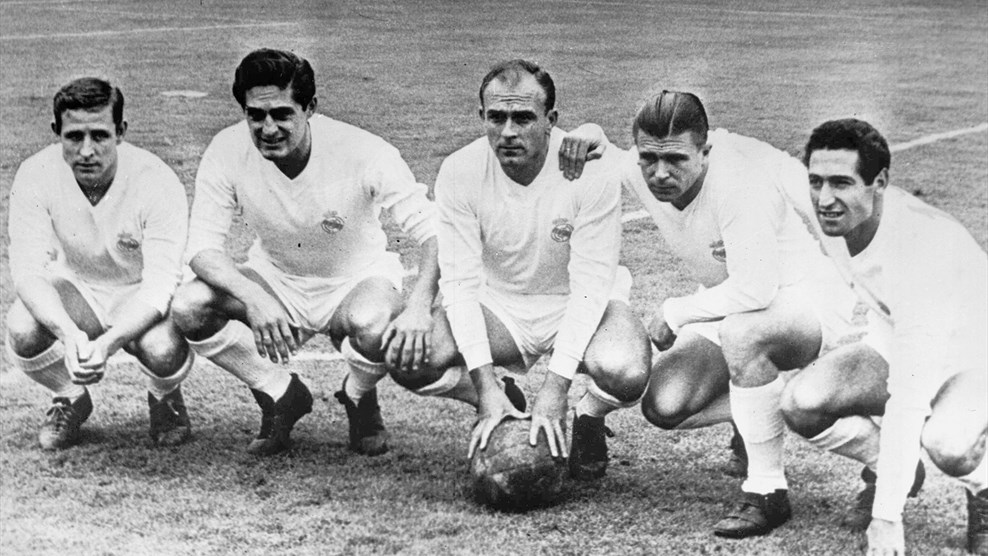 Kopa, Rial, Di Stefano, Puskas, and Gento - The original Galacticos