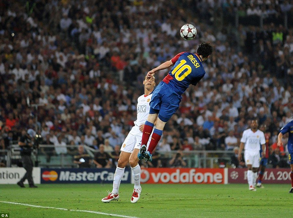 Messi's magisterial header.