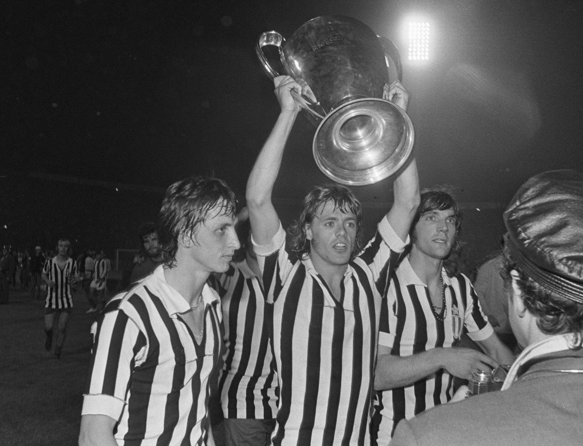 "Ajax with the ""big eared trophy"""