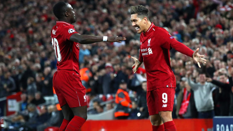 Firmino and Mane Celebrate Against Porto