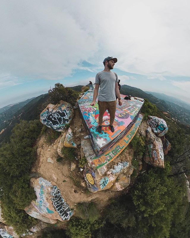 Super fun shooting at this abandoned heli pad! Thanks, @momentum_productions for showing us these dope spots. 📷 @insta360 . . . #insta360onex #advancedselfie #tinyplanets #insta360 #helipad #graffiti #concretjungle #selfie #planetearth #optoutside #getoutisde #explore #goexploring #searchandcreate #keepcreating #weareallbirds #hiking #views #selfportrait