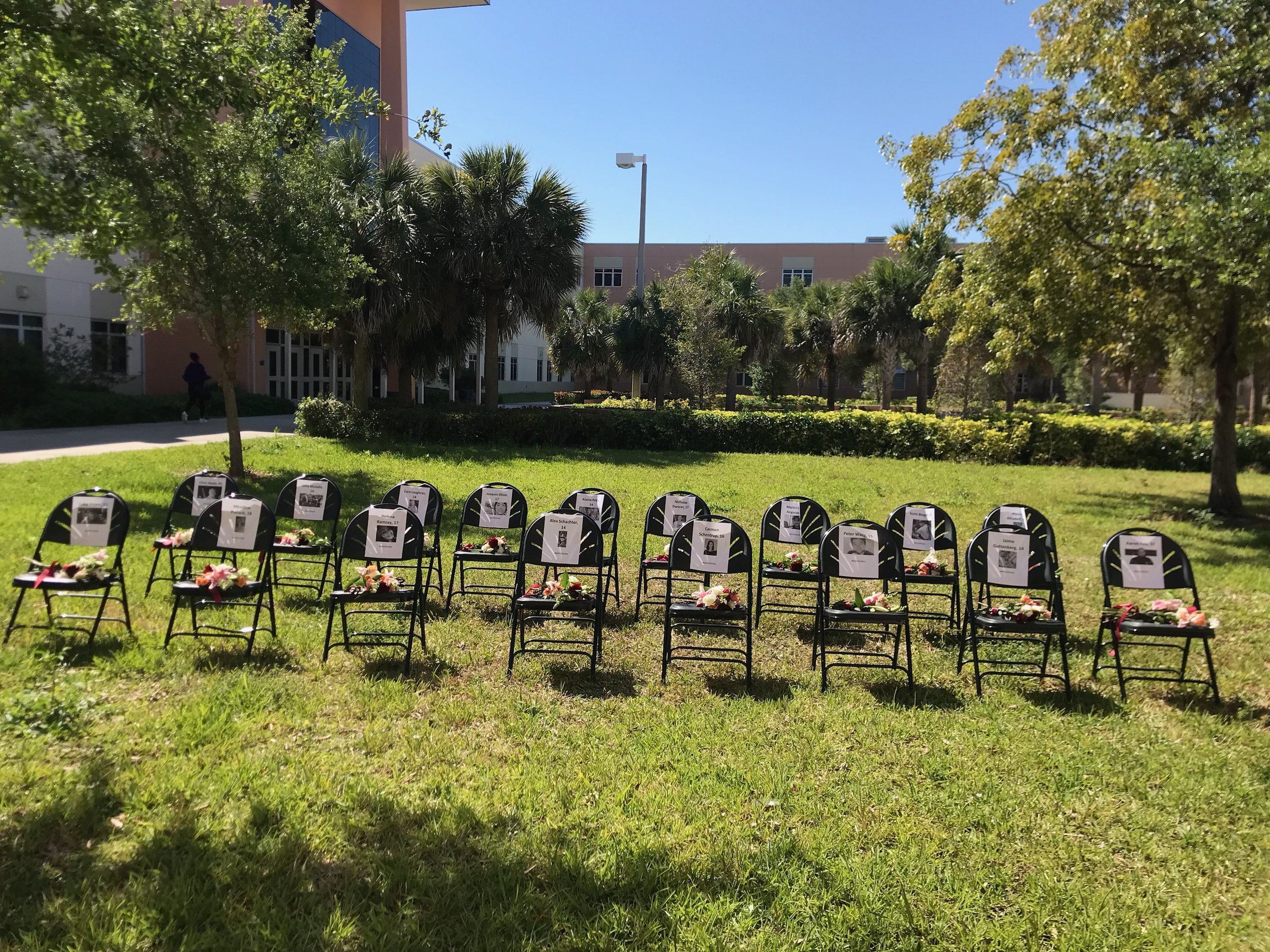 South Florida students at Palm Beach Gardens Community High School organized a vigil involving the entire school for the 17 lives lost on February 14th. -