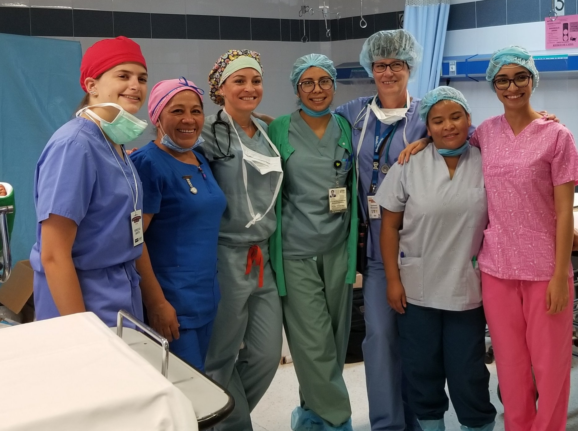 Team - A 25-member team typically made up of three orthopedic surgeons, one orthopedic resident, a five member anesthesia team consisting of anesthesiologists and nurse anethetists, fourteen nurses, and one hand therapist volunteer their time each year.