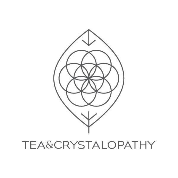 Crystalopathy  Logo Design for Herbal Tea & Gemstone Stirrer Combination