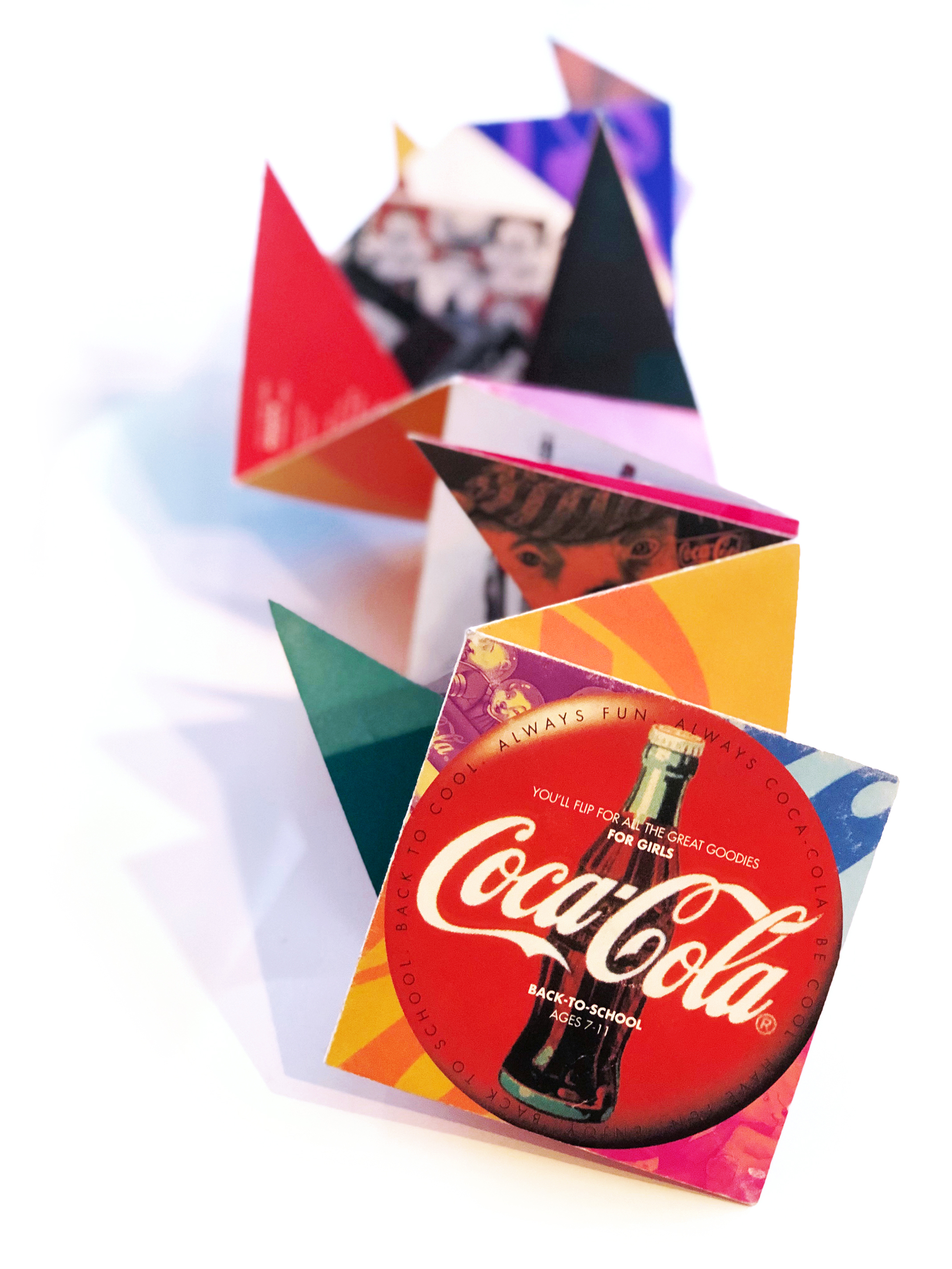 Coca Cola  Back-to-School Product Catalog (origami fold)
