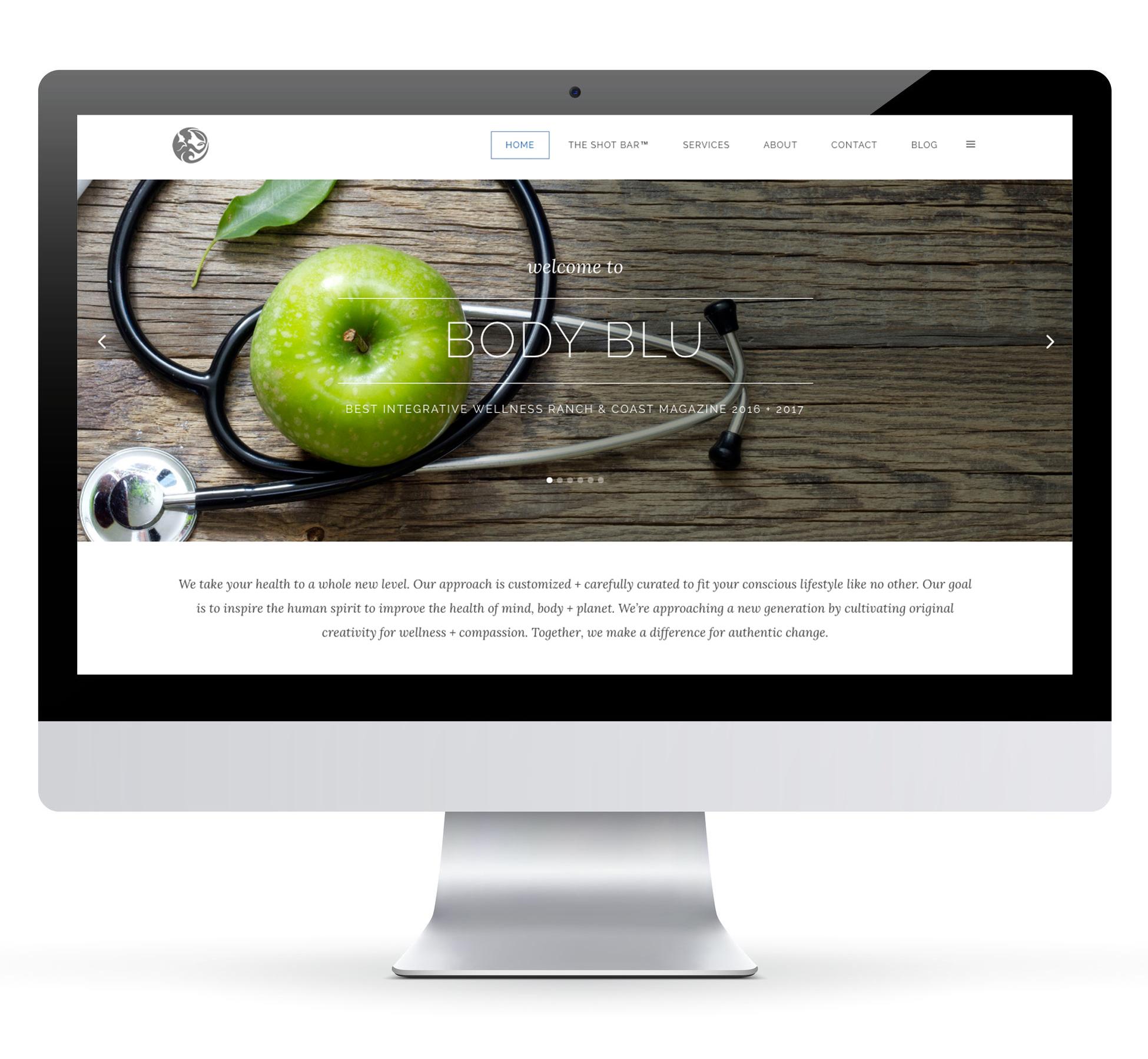 Body Blu  Web Design