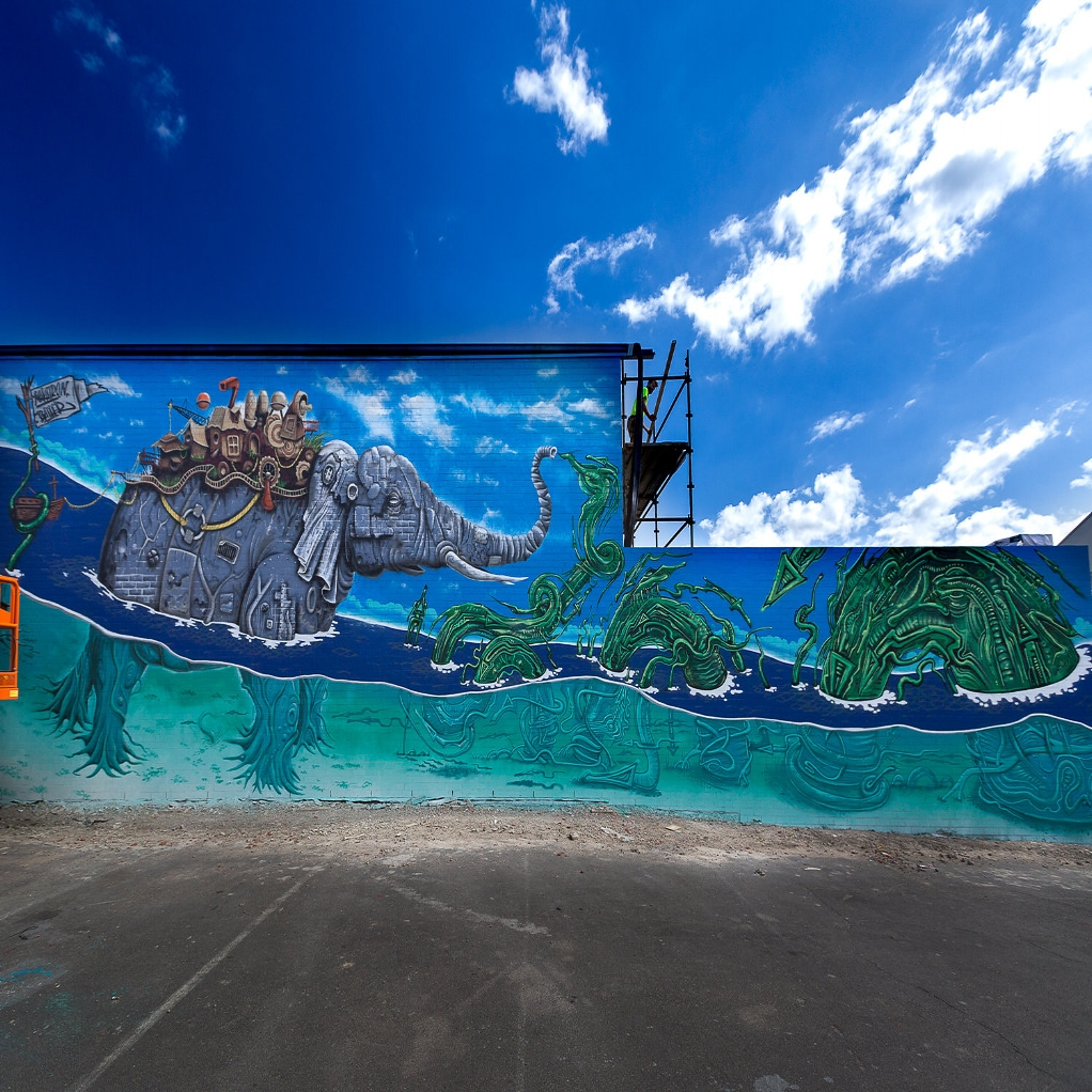 Elephant Mural    Abbotsford