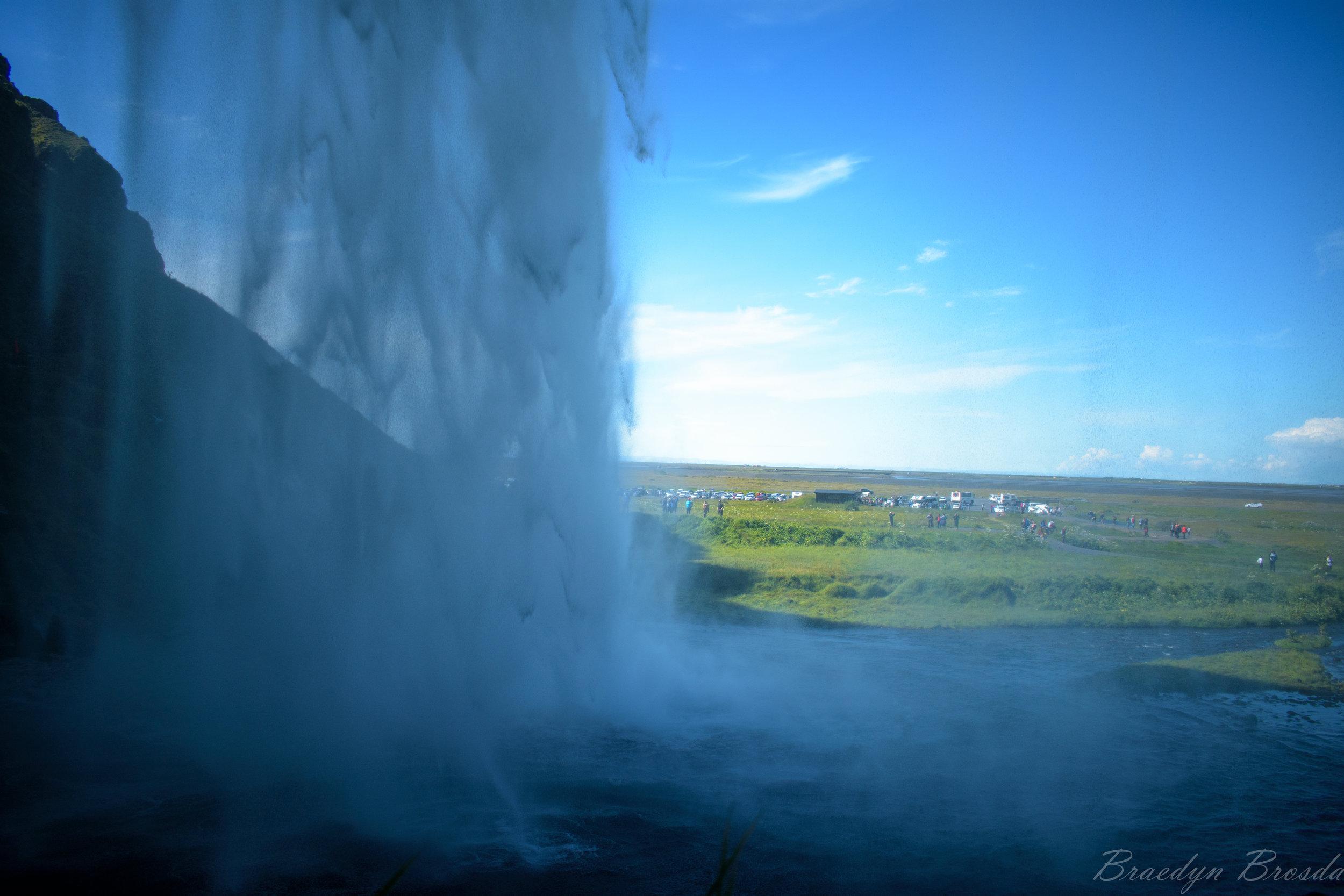 Seljalandsfoss behind