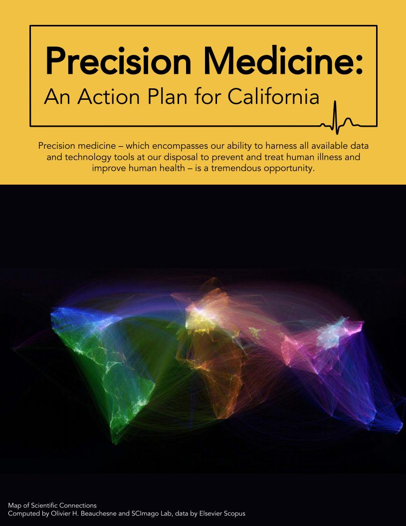 Precision Medicine: An Action Plan for California -