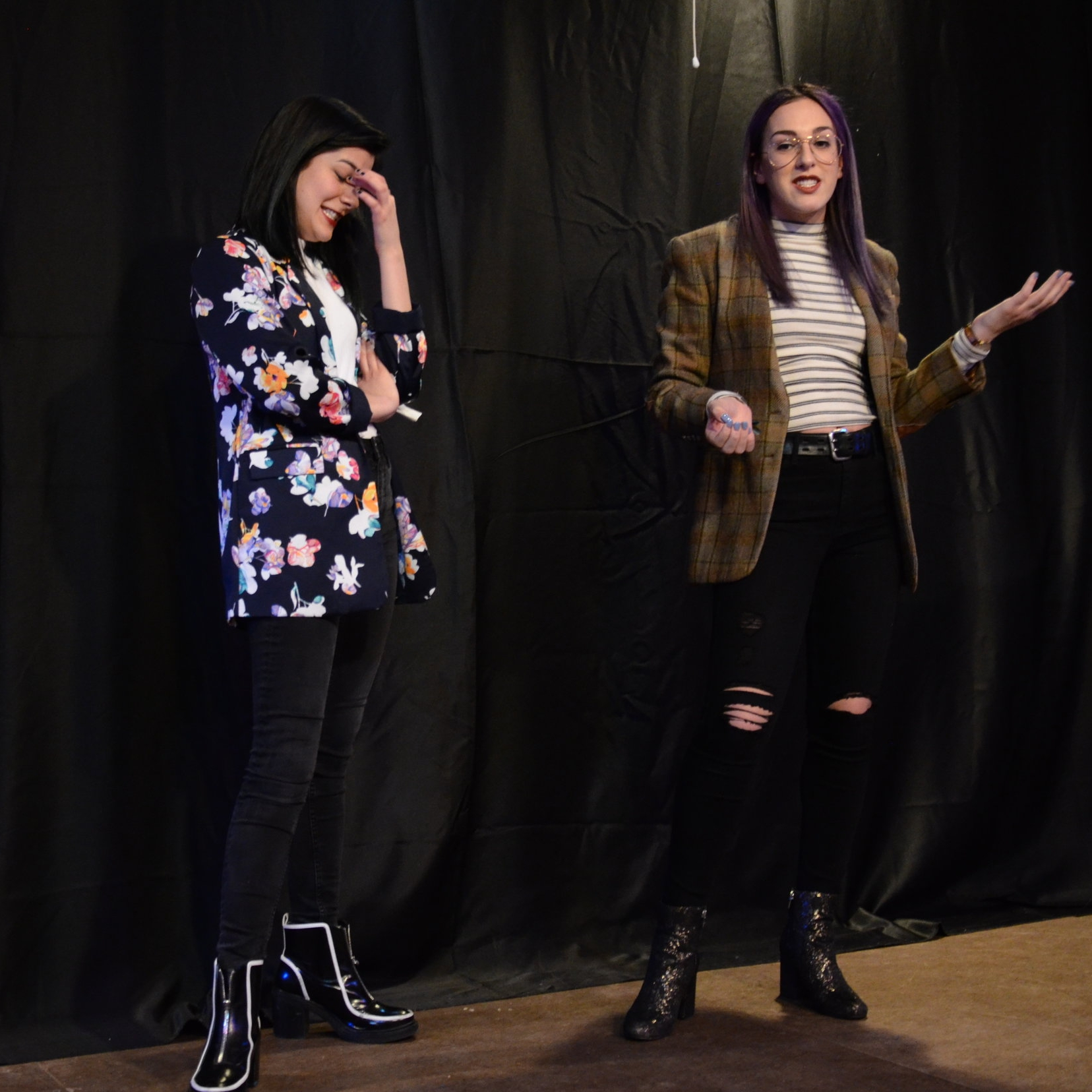 Emcees Allegra Leal and Jenna Rush at SHE Creates. 2K18.