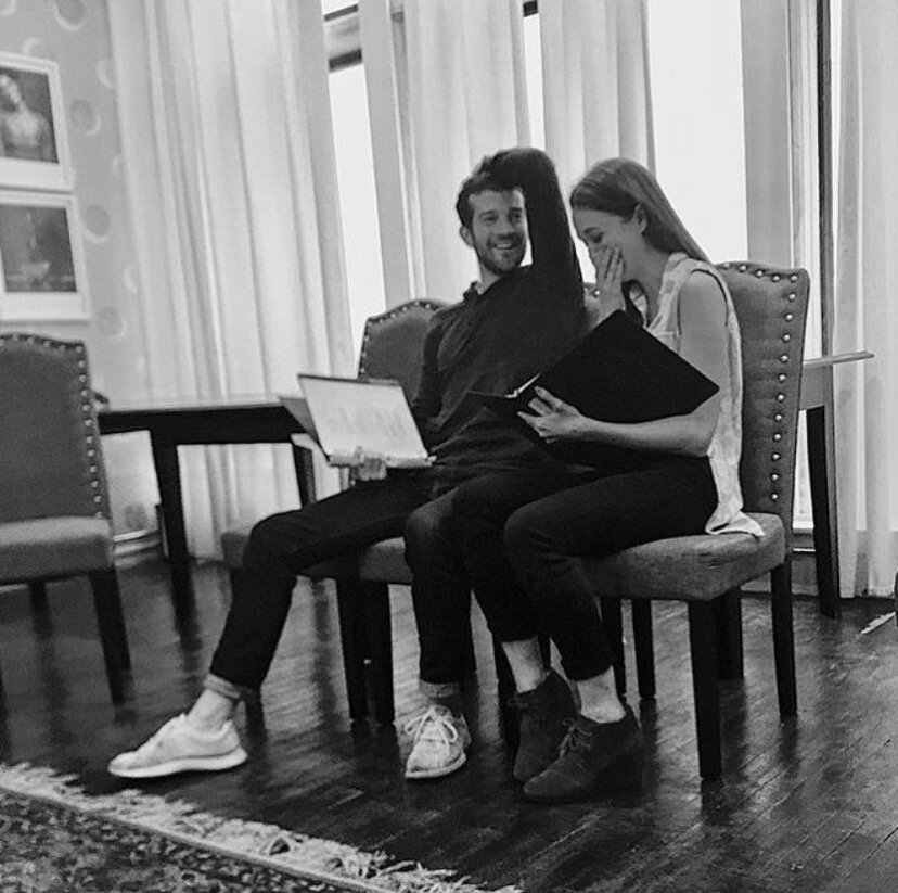 Maddie Shea Baldwin & A.J. Shively in a reading of Your Own Woman.
