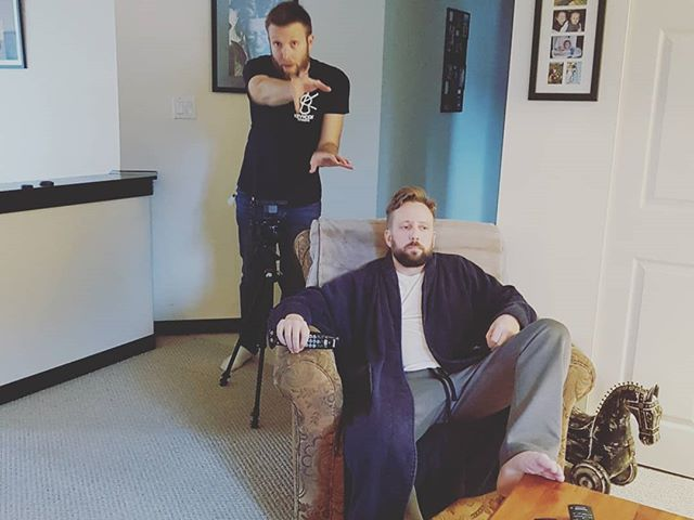 A day of filming inside the home of artist @ryanmcmahonmusic for the upcoming release of his new single #TooTiredForLove  @keyworkdesigns creating a couple of scenes with McMahon channelling #thebiglebowski