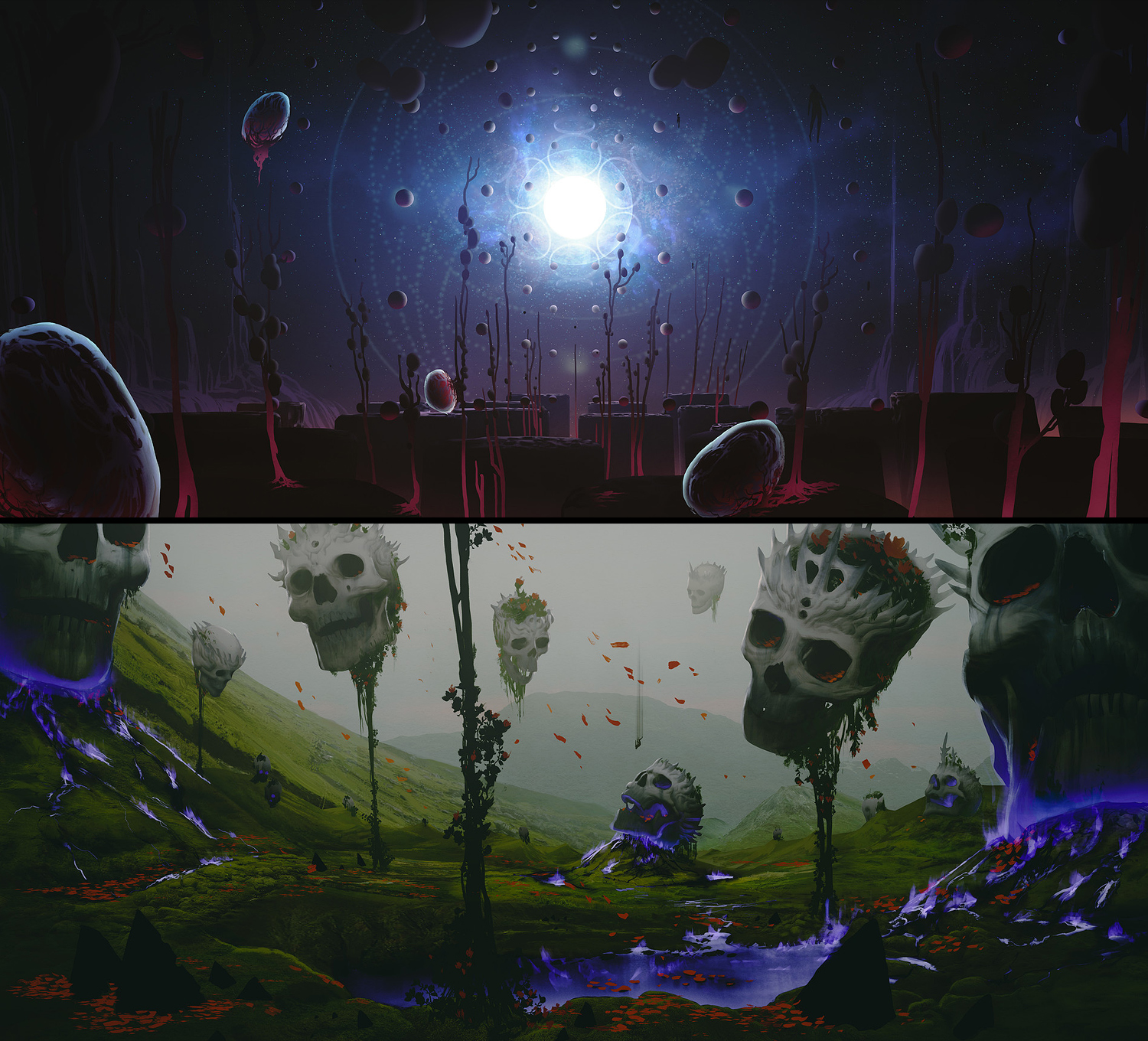 Otherworlds - Land & Sea Concepts