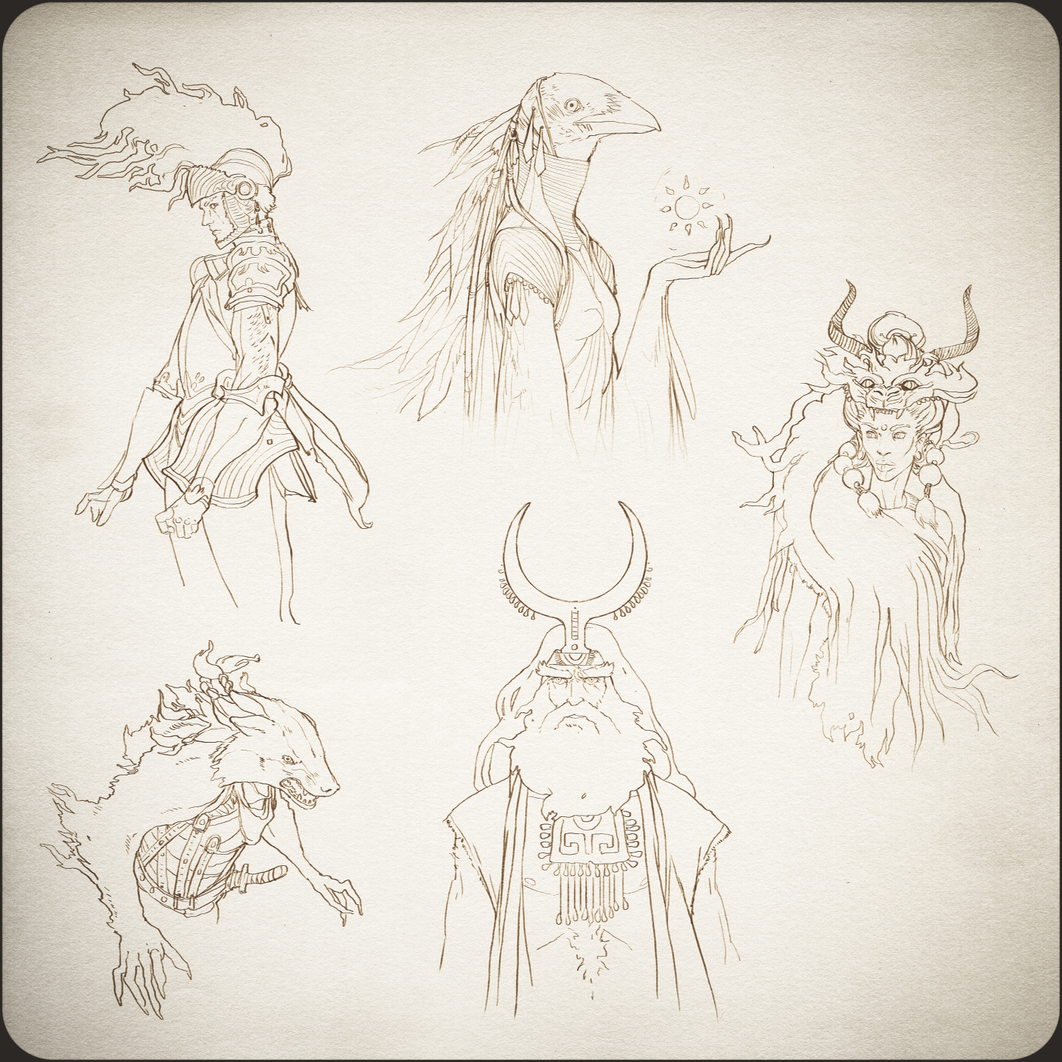 The Well - Previs Character Concepts