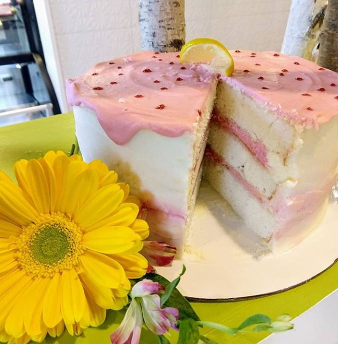 Almond Cake w Lemon & Raspberry Frosting.JPG