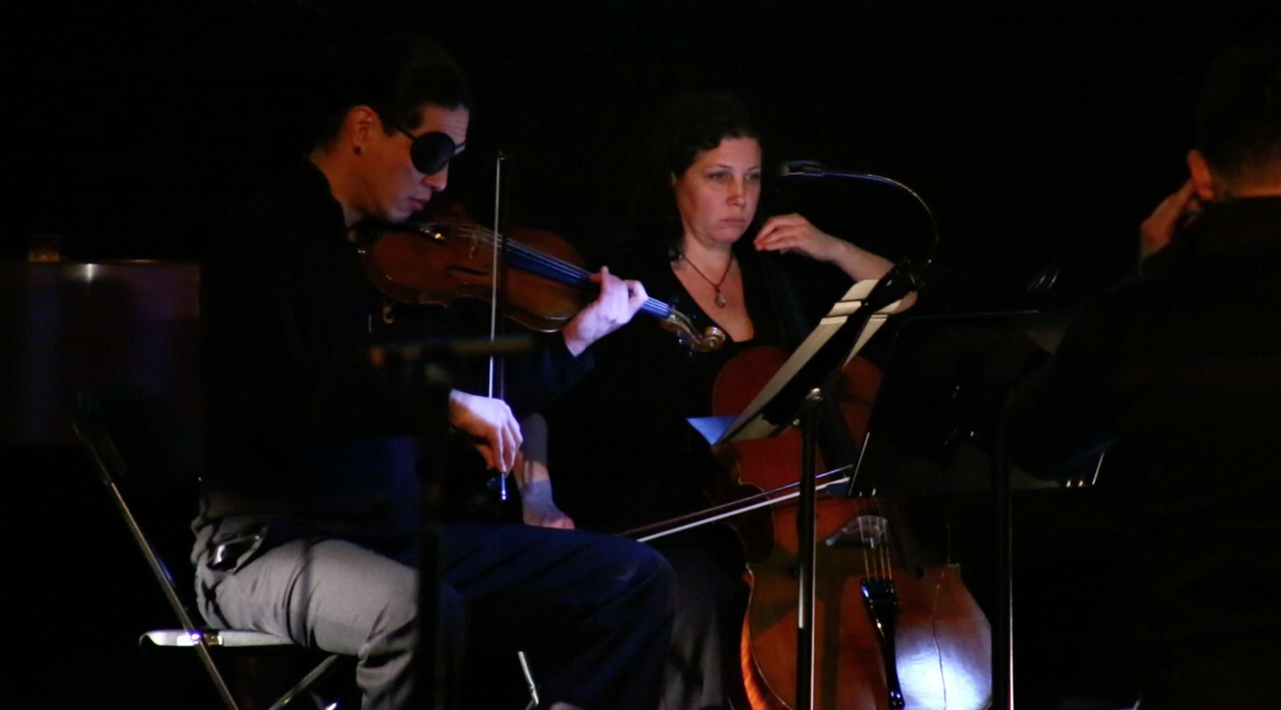 Violinist & Cellist during performance.